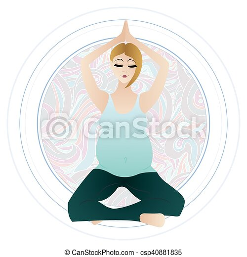vector illustration of a pregnant woman doing pregnancy