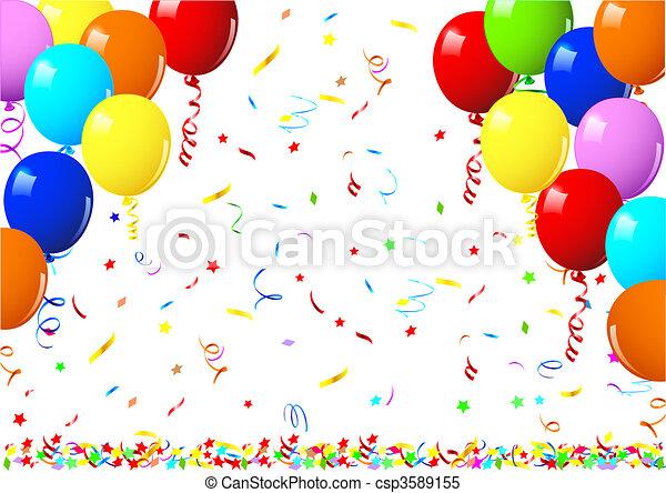 Vector illustration of a shiny balloons - csp3589155