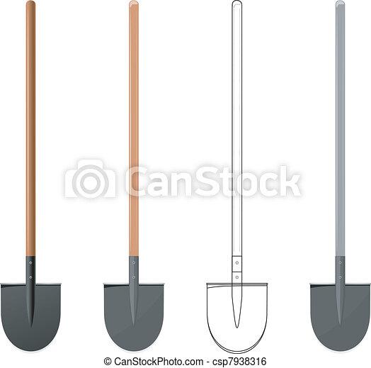 Vector illustration of a shovel - csp7938316