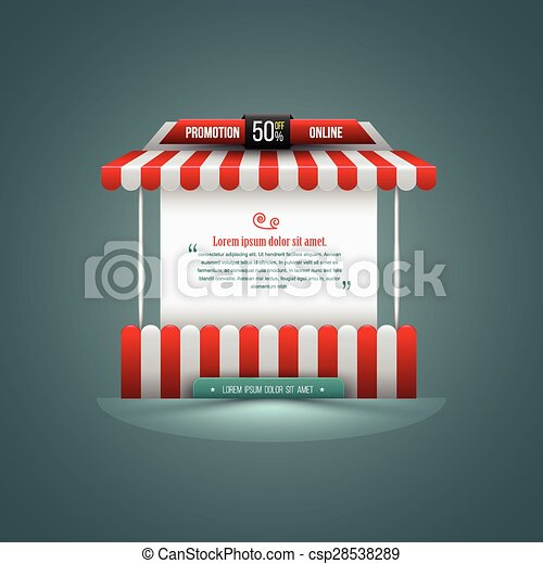 Vector illustration of a stall.  - csp28538289