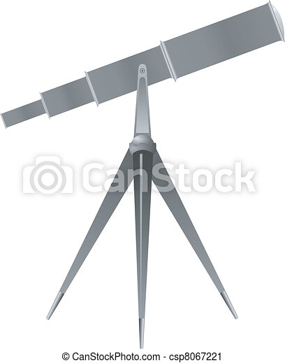 Vector illustration of a telescope - csp8067221