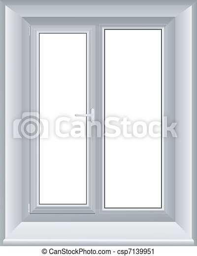 vector illustration of a window - csp7139951