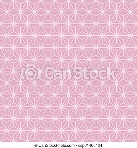 vector illustration of abstract pink geometric background - csp81468424