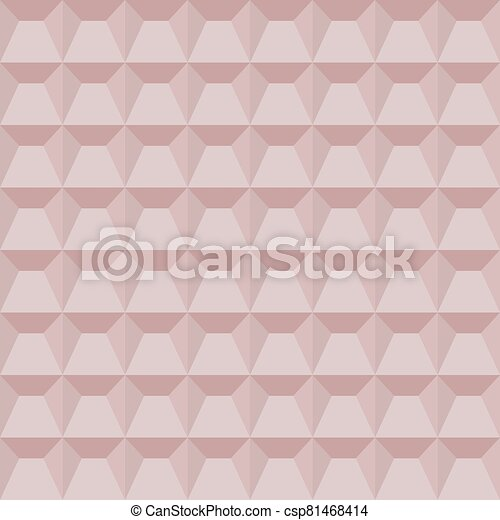 vector illustration of abstract pink geometric background - csp81468414