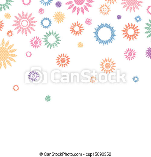 Vector Illustration of an Abstract Background with Flowers - csp15090352
