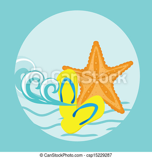 Vector Illustration of an Abstract Summer Background - csp15229287