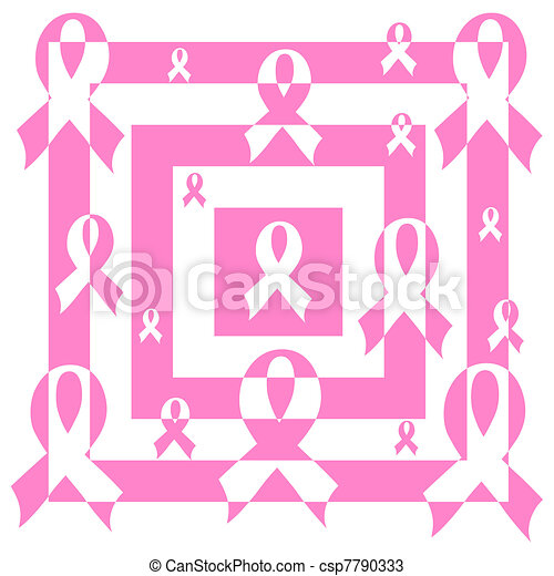vector illustration of an abstract mosaic pink Support Ribbon background - csp7790333