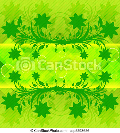 vector illustration of an abstract green background. eps10 - csp5893686
