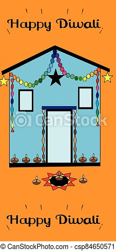 vector illustration of an abstract house - csp84650571