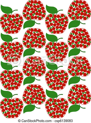 vector illustration of an apple seamless background - csp6139083