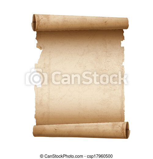 Vector illustration of ancient scroll paper - csp17960500