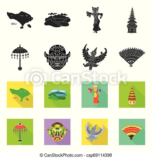Vector illustration of and travel logo. Collection of and traditional vector icon for stock. - csp69114398