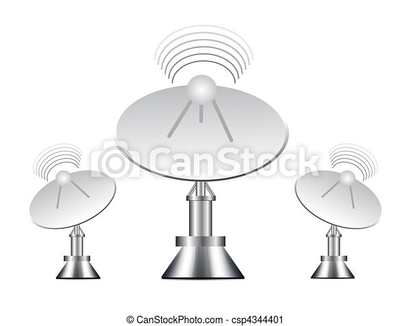 Vector illustration of antenna - csp4344401