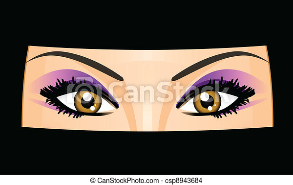 Vector illustration of Arab woman - csp8943684