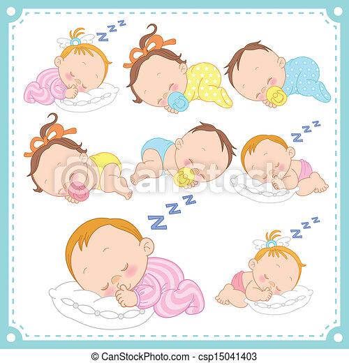 Sleeping Baby clip art (103177) Free SVG Download / 4 Vector