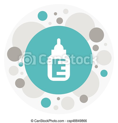 Vector Illustration Of Baby Symbol On Feeder Icon Premium Clip