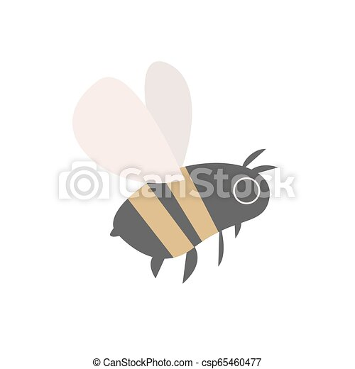 Vector illustration of bee on white background - csp65460477