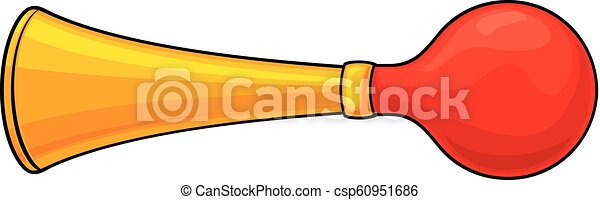vector illustration of bicycle air horn - csp60951686