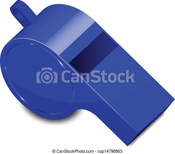 vector illustration of blue whistle rh canstockphoto com train whistle clip art police whistle clipart