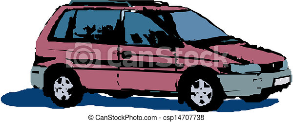Vector illustration of car  - csp14707738
