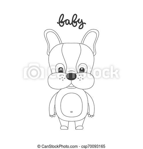 Vector illustration of cartoon dog. - csp70093165