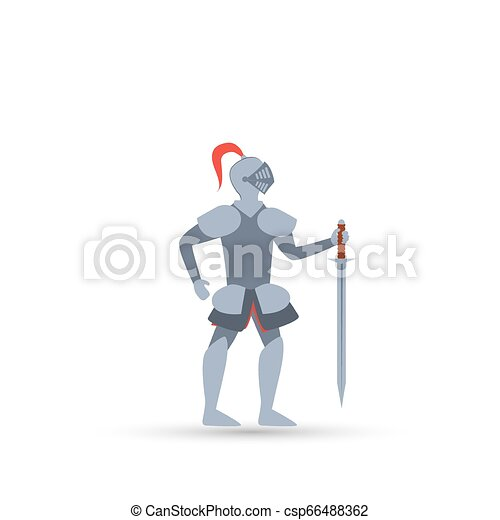 Vector illustration of Cartoon knight - csp66488362