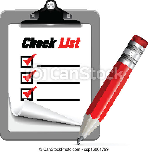 Vector illustration of check list - csp16001799