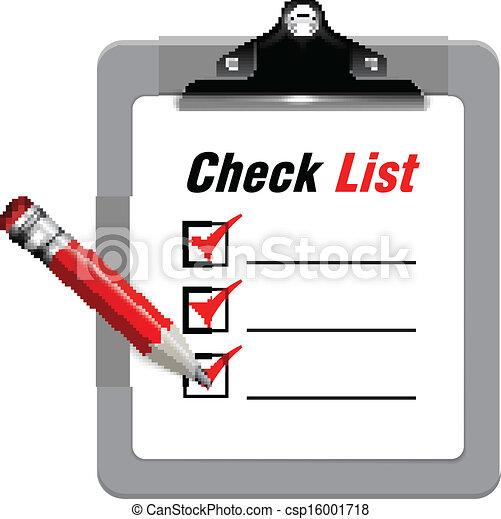 Vector illustration of check list - csp16001718