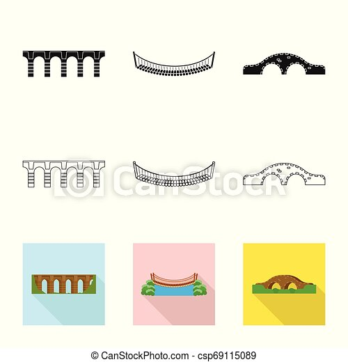 Vector illustration of connection and design symbol. Collection of connection and side stock vector illustration. - csp69115089