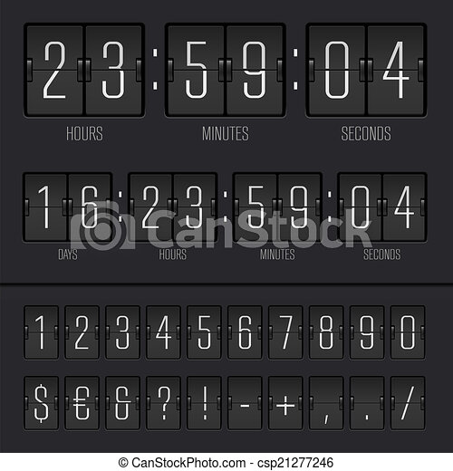Vector illustration of countdown timer - csp21277246
