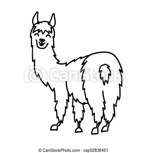 vector illustration of cute character south america lama clipart rh canstockphoto com alpaca background clipart alpaca clipart cute