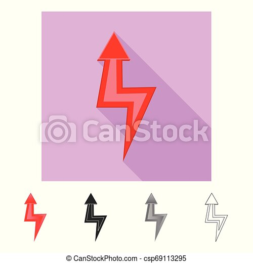 Vector illustration of element and arrow logo. Set of element and direction vector icon for stock. - csp69113295