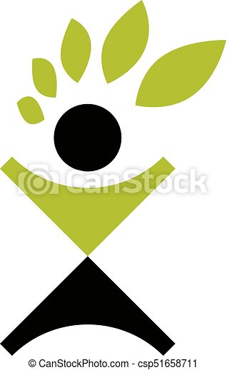 Vector Illustration Of Excited Abstract Person With Raised Hands Up