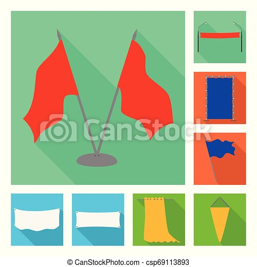 Vector illustration of fabric and white icon. Set of fabric and presentation stock vector illustration. - csp69113893