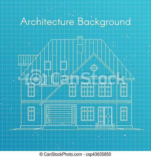 Vector illustration of family house or cottage architecture vector illustration of family house or cottage architecture blueprint background large private malvernweather Images