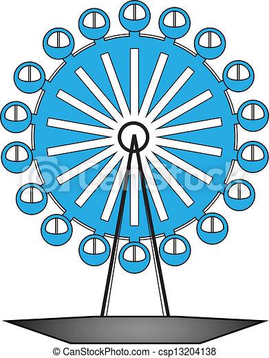 vector illustration of ferris wheel - csp13204138