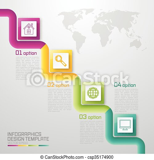 vector illustration of four square infographics stock vector