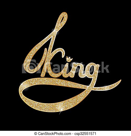 Vector illustration of gold king  - csp32551571
