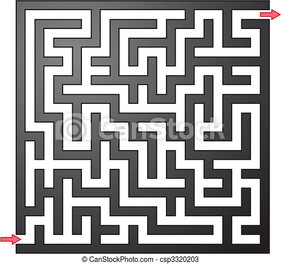 Vector illustration of gray maze - csp3320203