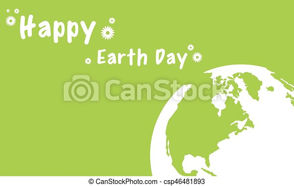 Vector illustration of happy earth day - csp46481893
