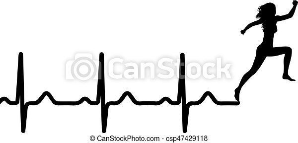vector illustration of heartbeat electrocardiogram and vector rh canstockphoto ca heartbeat clipart black and white heartbeat clipart vector