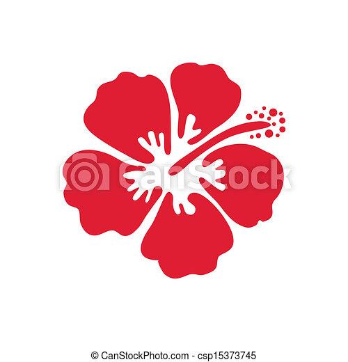 Vector illustration of hibiscus flower - csp15373745