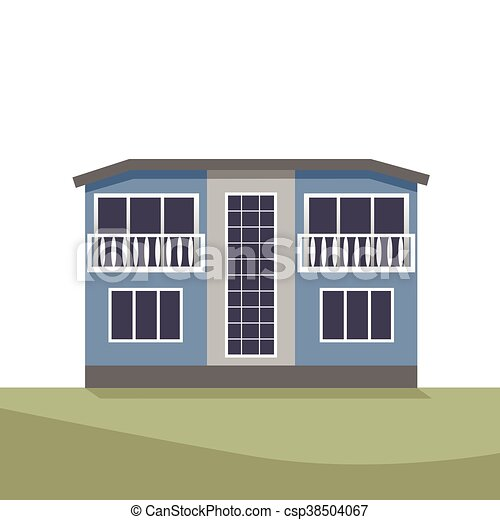 Vector Illustration of house - csp38504067