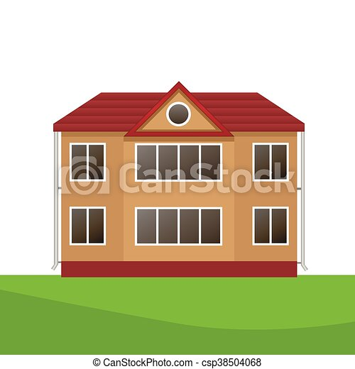 Vector Illustration of house - csp38504068