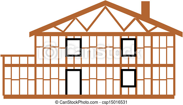Vector illustration of house  - csp15016531
