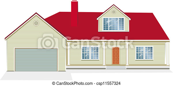 Vector Illustration of house - csp11557324
