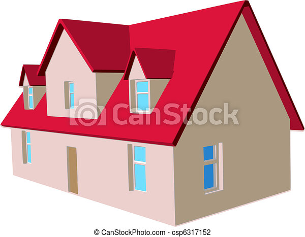 Vector Illustration of house - csp6317152