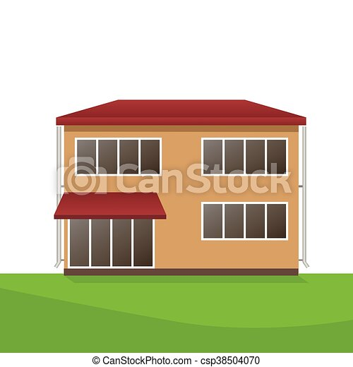 Vector Illustration of house - csp38504070