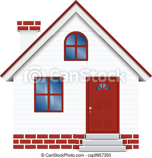 Vector illustration of house - csp9957350