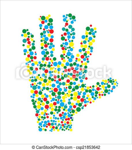 Vector illustration of human hand - csp21853642